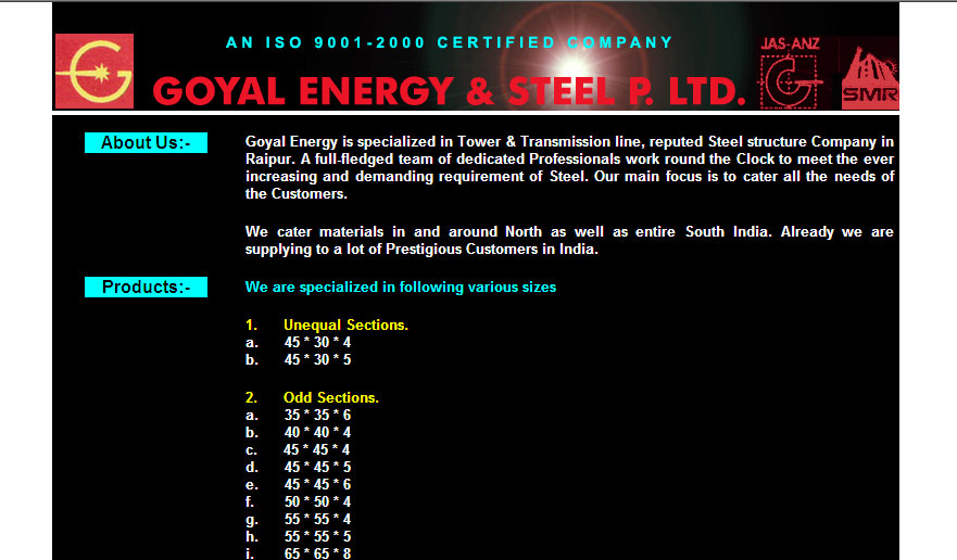 Goyal Energy & Steel Pvt. Ltd.